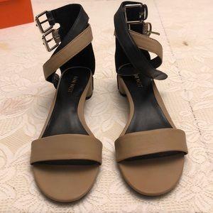 BWWT Nine West color block sandal
